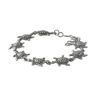 Sterling 925 Silver Bracelet - Chain of Turtles Tortises - Wholesale / Gift