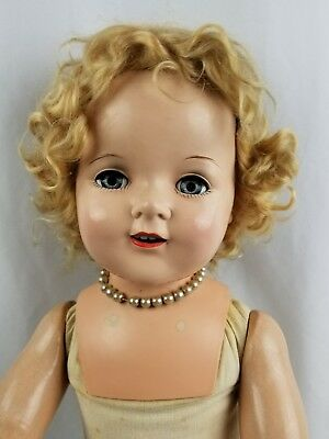 """Vintage/Antique Composition Doll Shirley Temple Look Alike Large Mama Doll 29"""""""