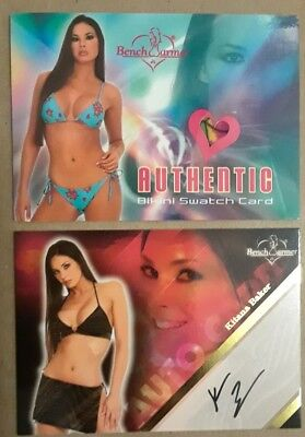 Kitana Baker 2004 Bikini Swatch + 2008 Autograph 2 card lot