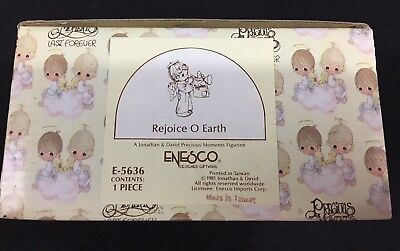 Precious Moments Figurine E-5636 REJOICE O EARTH - NIB - NEW!