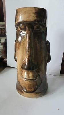 Rare Vintage Tall Skipper Kents Tiki Mug  Brown Beige San Francisco Kona Hawaii