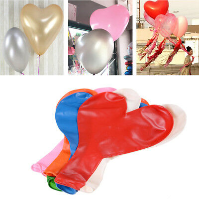 "1PC 36"" Big Heart-Shaped Latex Balloon Wedding Birthday Party Decoration Gift PR"