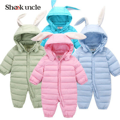 Baby Toddler Bunny Winter Warm Quality Coat Snowsuit Romper Jumpsuit Outfit