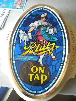 Vintage Blatz Beer Light Light Up  Beer Sign    Valerie Girl