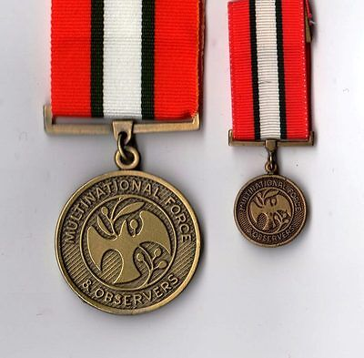 Multinational Force & Observers full size and Mini Medals