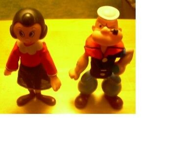 RARE  POPEYE and OLIVE Oil vintage dolls by King Feature Syndicate