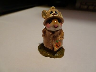 Wee Forest Folk April Showers special taupe with bear on hat, pumpkin on slicker