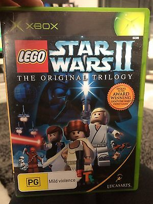 Star Wars II (The Original Trilogy) 2006 XBOX Game Case & Manual