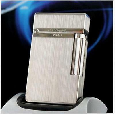 New Memorial S.T Dupont Lighter 007 lighters Silver Bright Sound!!! Durable