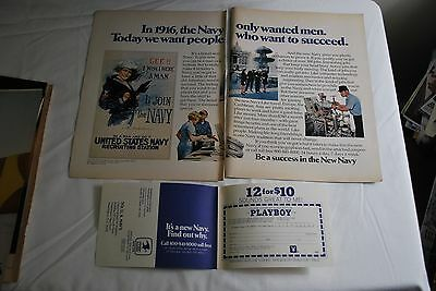 United States Navy with Mailer 1973 Playboy Magazine ad - Very Good++