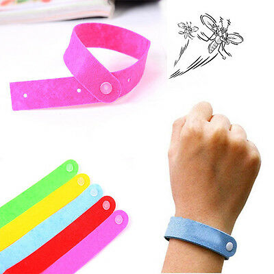 10 Pcs Anti Mosquito Bug Repellent Wrist Band Bracelet Insect Net Pest Bugslock