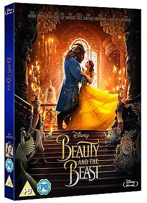 Beauty and the Beast w/ Slipcover (Blu-ray, Disney, Live Action, 2017) *NEW*