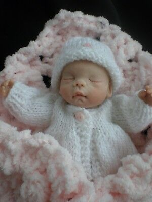 Just Beautiful 6 Inch Hand Sculpted Polymer Clay Ooak Doll