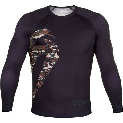 Venum Original Giant Longsleeve Rashguard - Black/Jungle Camo