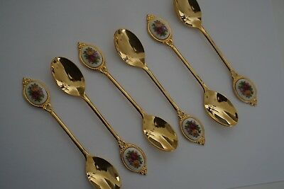 Royal Albert Old Country Roses Gold Teaspoons