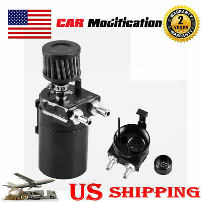500ml Cylinder Aluminum Engine Oil Catch Reservoir Breather Tank/Can w/Filter