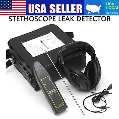 Leak Detector Water Pipe Electronic Stethoscope Earphone Detection Equipment US