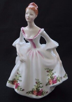 """1988 Royal Doulton Country Rose Figurine HN3221 By Peggy Davies Excellent 8""""H"""