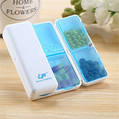 7 Days Weekly Foldable Pill Case Travel Box Mini Drug Tablet Storage Container E