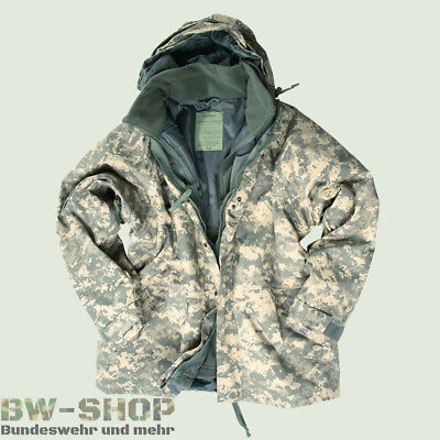 Us Army Nässeschutzjacke + Fleecejacke Nässeschutz At-Digital Winterjacke Parka