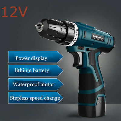 12V Screwdriver Cordless Power Tools Screw Gun Electric Rechargeable Hand Drill'