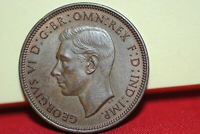 1937 Britain 1/2 Penny in uncirculated/extra fine
