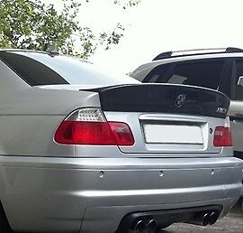 BMW e46 M3 CSL style boot lid spoiler, trunk addon, ducktail, fits only saloon