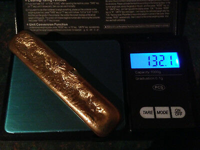 Scrap Gold Copper Recovery Art 132g (READ DESCRIPTION)