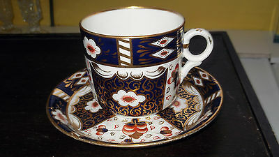 Large China Cup And Saucer In An Imari Pattern    No Makers Marks