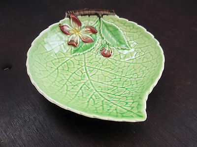 Small Carlton Ware Leaf Shaped Pin Tray With A ?honeysuckle  Flower