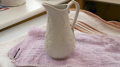 Small Portmeirion Parian Ware Jug With A Grape And Vine Pattern