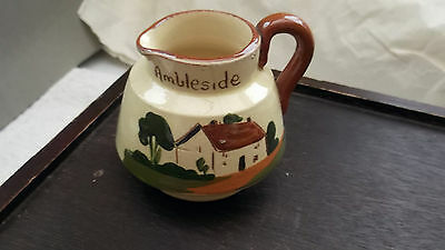 Small Watcombe Pottery Motto Ware Jug   Ambleside    Speak Little Speak Well