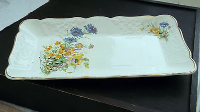 Empire Porcelain Dressing Table /  Sandwich Tray With A Garden Flower Pattern