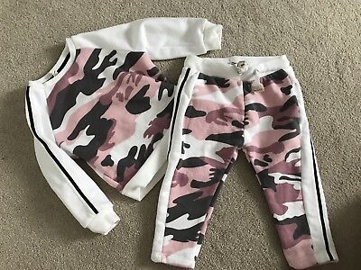 Baby Girls River Island Mini 3-6 Months Camo Tracksuit