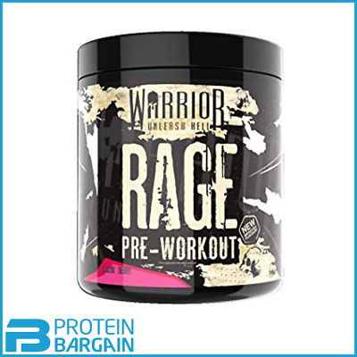 Warrior Rage Pre Workout 392g -45 Servings Savage Strawberry Flavour STRONG PUMP
