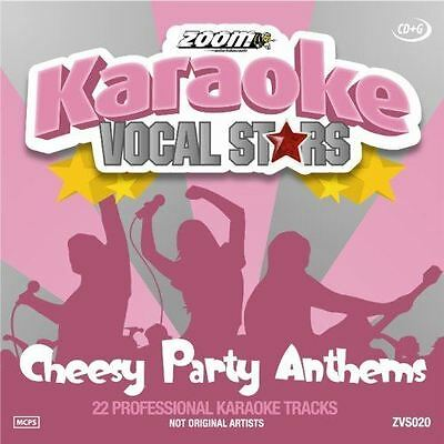 Zoom Karaoke Vocal Stars Cheesy Party Anthems CD + G New Sealed