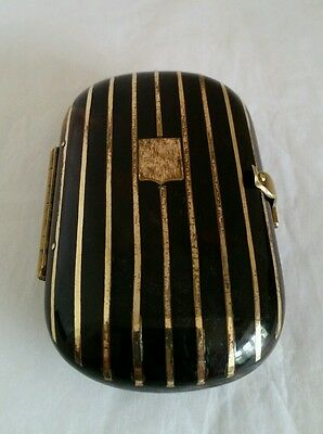 Victorian faux tortoiseshell coin purse.Marked Brevet Paris. Gilded crossbanding