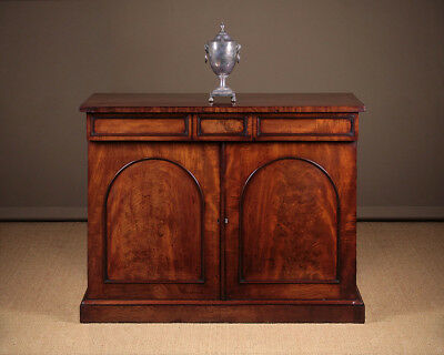 Antique 19th.c. Mahogany Chiffonier Side Cabinet c.1860