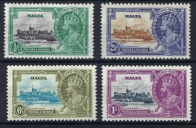 Malta  -  1935 Silver Jubilee  -  SG 210/13  - MINT HINGED SET SEE SCANS.