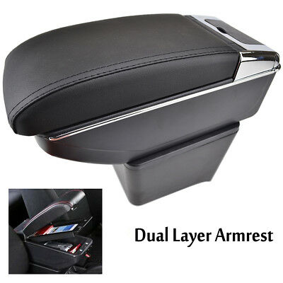 Fit For VW Polo 02-09 Mk4 9N 9N3 Car Centre Console Armrest Storage Box Tray