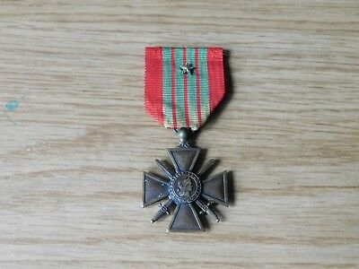 ww2 wwii french croix de guerre cross medal 1939