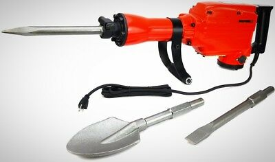 Heavy Duty Electric Demolition Jack Hammer Concrete Breaker 2200Watt W/ Shovel