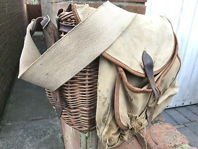 Vintage Fishing Wicker Creel Casket By Ogden Smiths Of London Course Fly Fishing