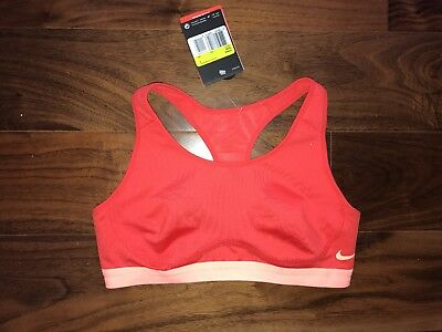 BNWT Nike Red Orange Sports Bra Crop Top S