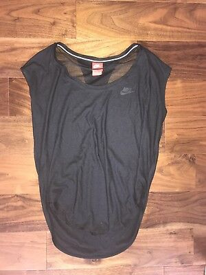 Nike Black Off The Shoulder Wide Neck Mesh S