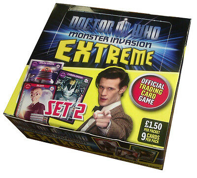 Doctor (Dr) Who Monster Invasion Extreme Trading Card Spiel ~2er Set~ NEU