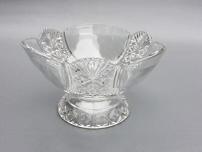 Antique clear pressed glass compote HARTLEY, Richards & Hartley Glass Co. 1890's