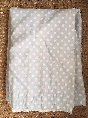 Duck Egg Polka Dot Curtains Pencil Pleat Fully Lined
