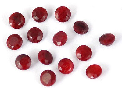 Wholesale 25 Pieces Dyed Ruby Corundum Round 5mm 20Cts Normal Cut Loose Gemstone