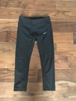 Nike Dri Fit Black 3/4 Leggings S